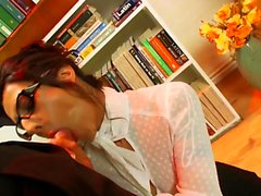 Hot secretary takes care of her boss