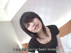 Subtitles pale Japanese wife secretly does AV
