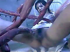 Freaky tentacles gang bang horny asian nurse