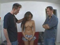 Squirting Asian Babe Takes On Two Dicks At Once
