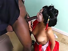 Asian Babe Vivianna Mulino Gets Freaky With Black Boss