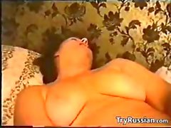 Russian Lady Passionate For Her Cucumber