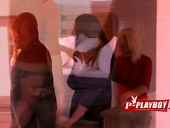 Two babe banged by black dude