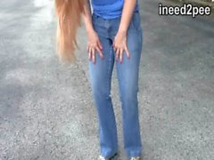 Only jeans & a mp_ panty wetting from ineed2pee 31 omorashi