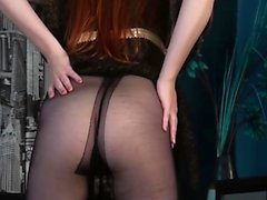 A Sweet Ginger Babe in a Pantyhose
