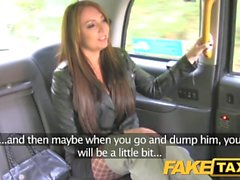 Fake Taxi Knee high boots in fishnet lingerie