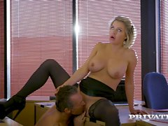 private - British babe Sienna Day fucks her boss