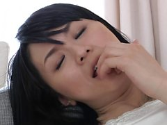 Playful Asian babe sucks a dick and gets her tight peach dr