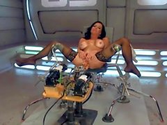 Machine fucks a hot MILF hard, multiple squirting orgasms.HD