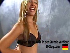 brünett, blowjob, geil, titten, blond