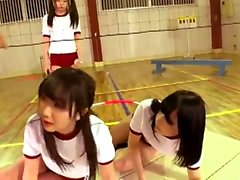 Horny busty japanese teen group sex with big black dick 03