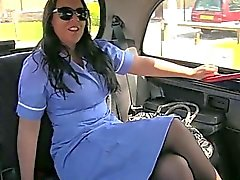 Nurse amateur blackmailed by her taxi