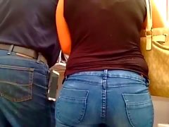 phat plump ass in jeans