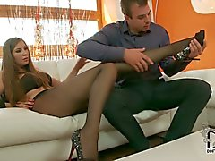 Long legged Conny in sexy pantyhose