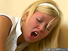Hot blonde bitch gets fucked hard part1