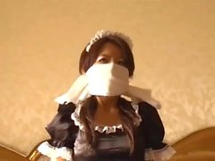 Maid Self Gag & Bondage