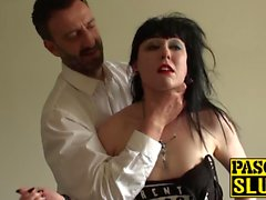 Tattoed Sex Cleo gets fucked hard by guys big fat cock
