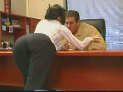Secretary Helps Her Boss To Relieve Stress!