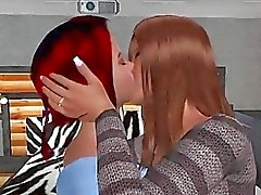 Hot lesbians fuck with strapon