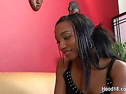 A gorgeous young black teen shows what shes got at an interview by fucking the boss