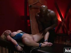 Krissy gets dominated by a black dude