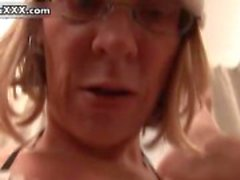 Horny guy gets fucked by a mature