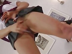 Pussyeating glamour british milf fingers schoolgirls ass