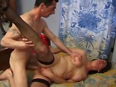 Amateur mature anal with hairy french milf