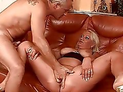 Fat granny gets fucked until she squirts