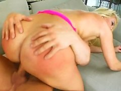 Gonzo cum dripping creampie with Christin La Rouge by