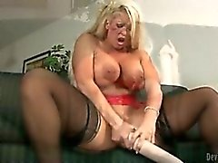 gros seins, blond, squirting, jouets