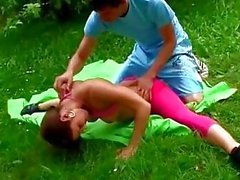 sexflex outdoor fuck gymnastic