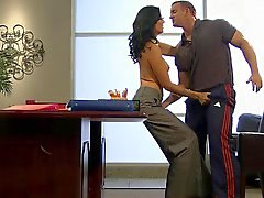 Hot Cougar Zoe Holloway Banging on Desk