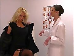 lesben, blondinen, brunettes, nylon, reift