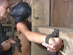 Tied up chick's sexy twat is being tortured viciously