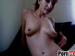 Lactating Milf Camgirl has milky fun