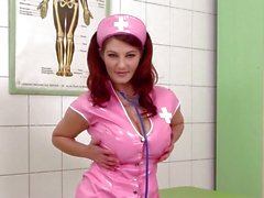 Sexy nurse clinic masturbation