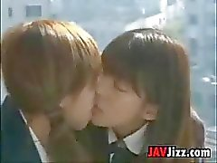 Japanese Schoolgirls Kissing