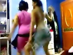 two arabic ladies dancing around softcore