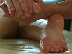 Jayden Jaymes with perfect tits and ass enjoys massage