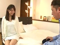 pretty japanese gives handjob and blowjob
