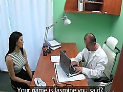 Busty milf fucks doctor at office