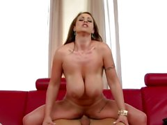 Huge jugged babe gets them out for a fucking