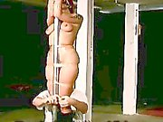Redhead baauty with hot big jugs gets tied and tortured in BDSM scene