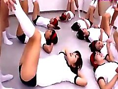Schoolgirls In Training Dress Making Exercises 2 Of Them Fucked By Guy On The Floor In The Classroom