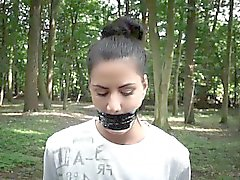 Athina whipped bound and fucked in the woods