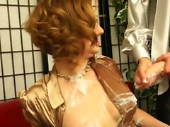 Naughty girls play with big strap-ons