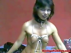 Self Breast Bondage and ClingFilm Fetish