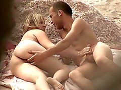 Nude Beach - superb teen couple caught unawares
