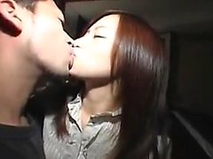 Sexy slim Asian babe in pantyhose has a stud taking care of